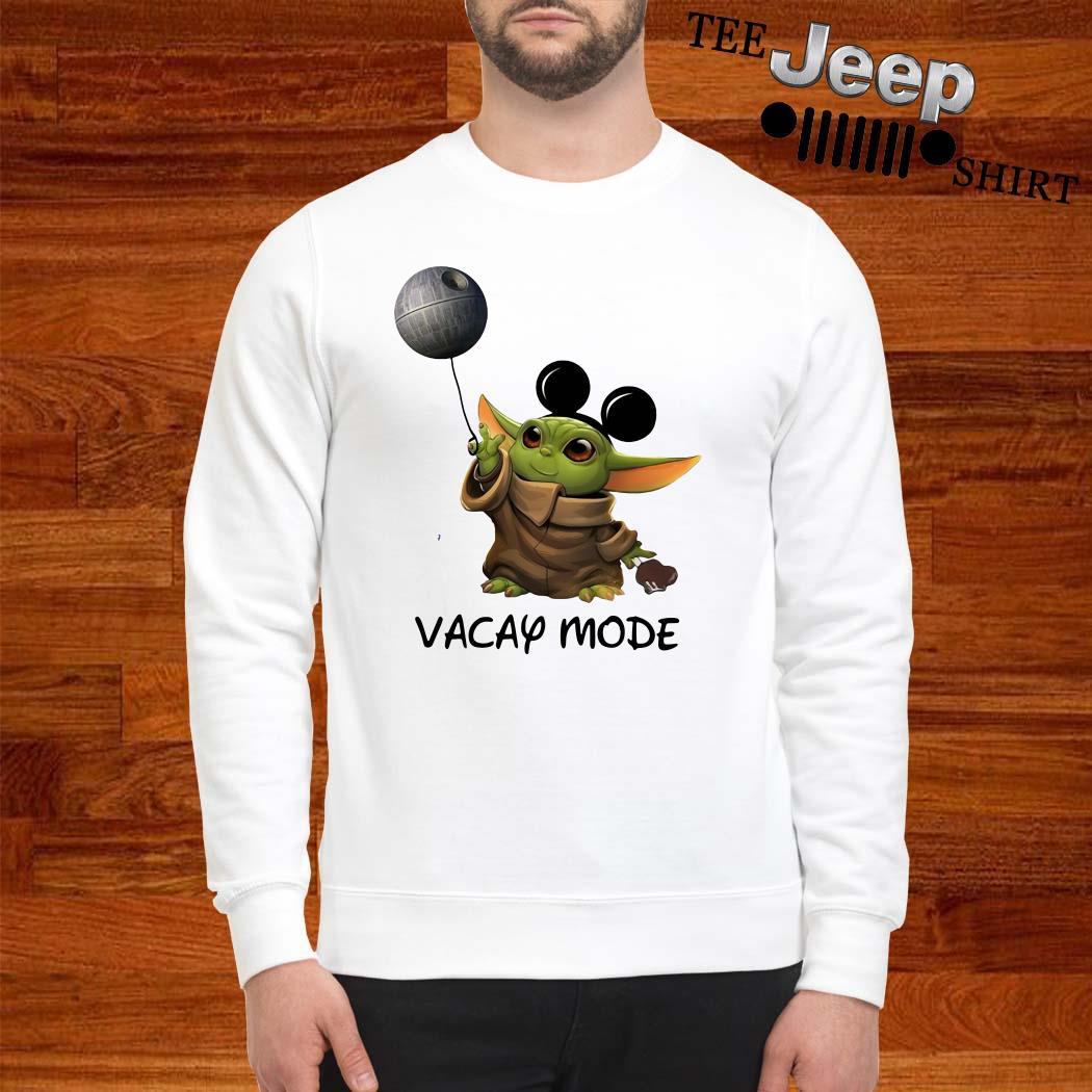 Baby Yoda Mickey Mouse Vacay Mode Sweatshirt