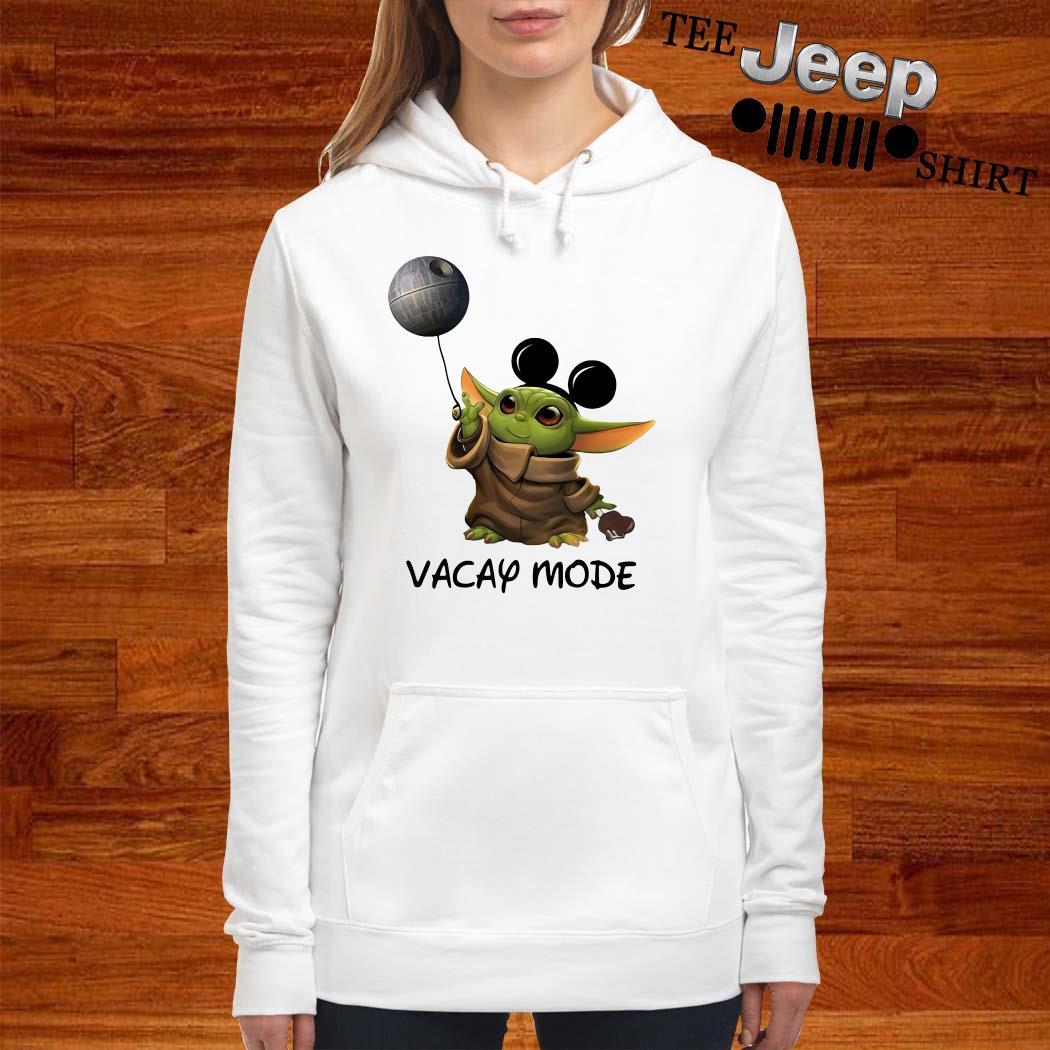 Baby Yoda Mickey Mouse Vacay Mode Hoodie