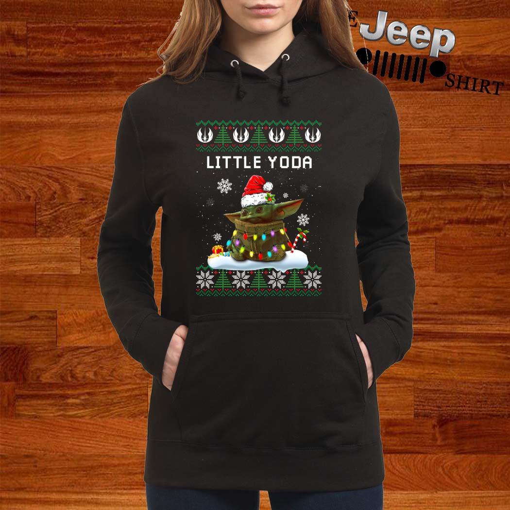 Baby Yoda Santa Little Yoda Ugly Christmas Hoodie