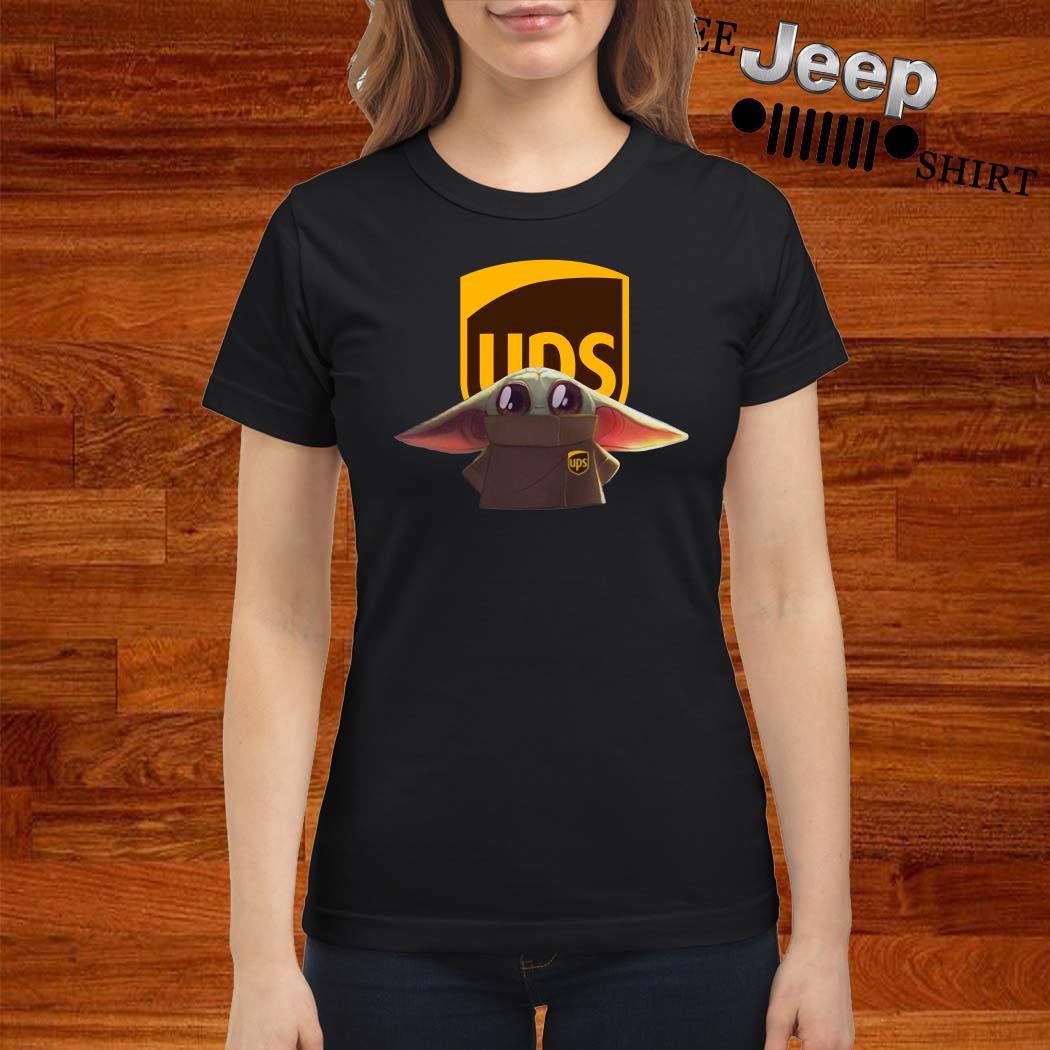 Baby Yoda UPS Ladies Shirt
