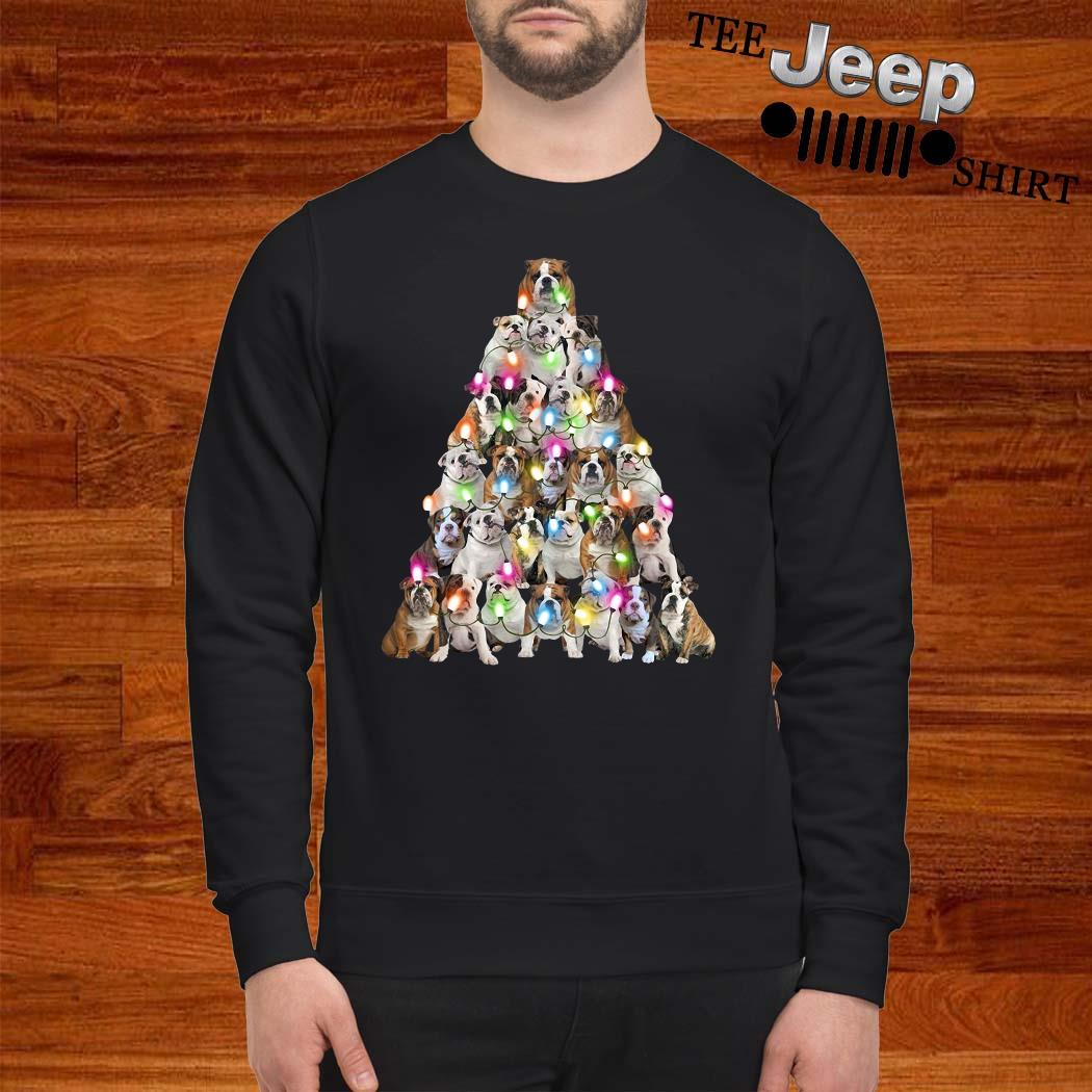Bulldog Christmas Tree Sweatshirt