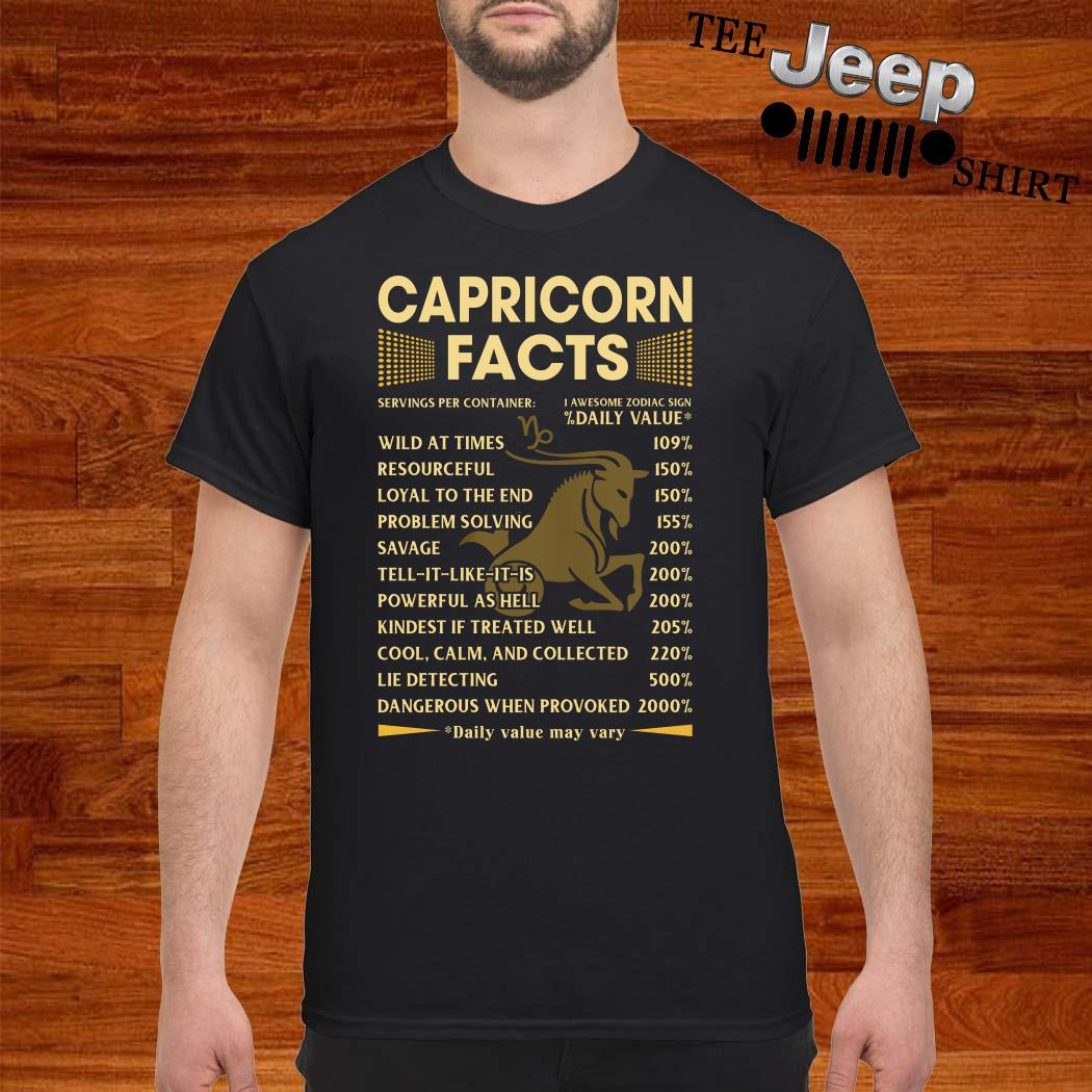 Capricorn Facts Shirt