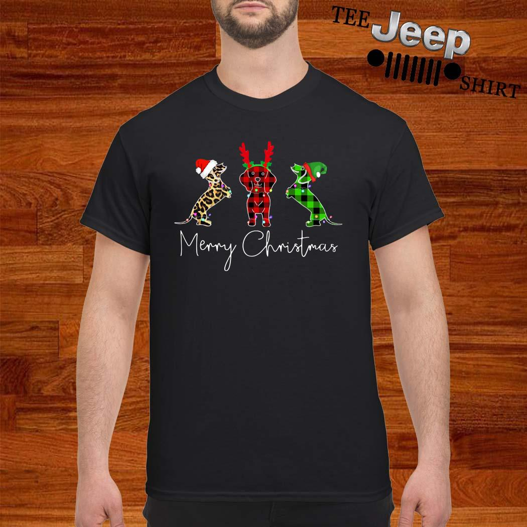 Dachshunds Merry Christmas Shirt