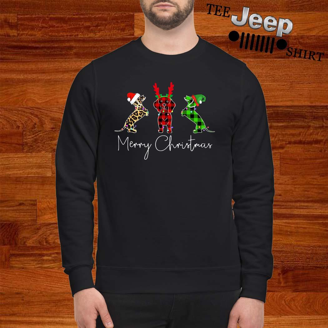 Dachshunds Merry Christmas Sweatshirt