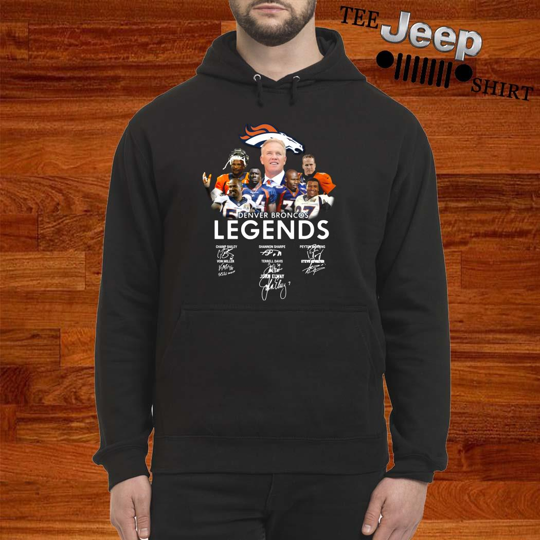Denver Broncos Legends Signatures Hoodie