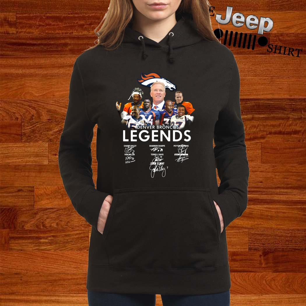 Denver Broncos Legends Signatures Women Hoodie
