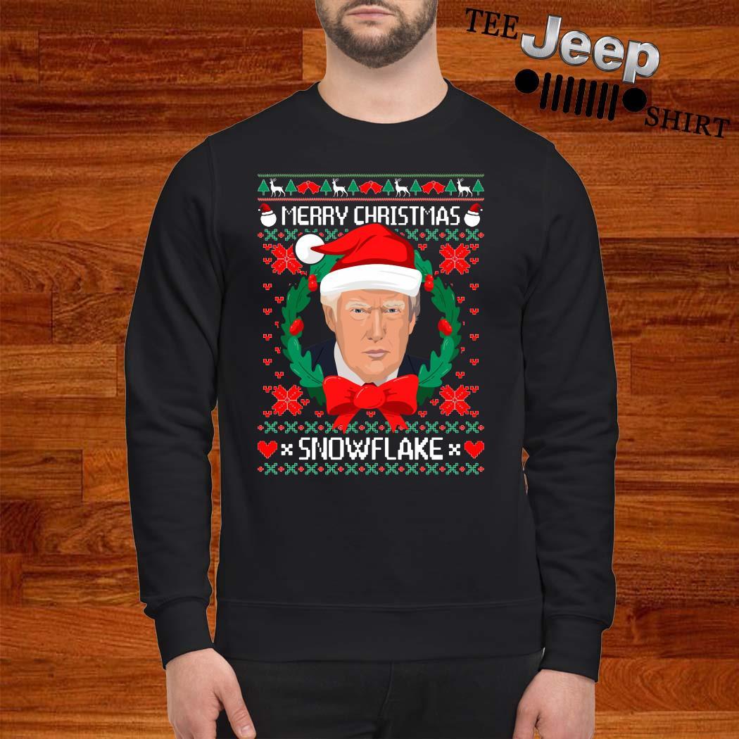 Donald Trump Merry Christmas Snowflake Ugly Christmas Sweater