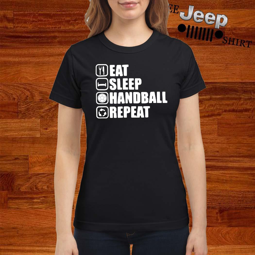 Eat Sleep Handstand Repeat Ladies Shirt