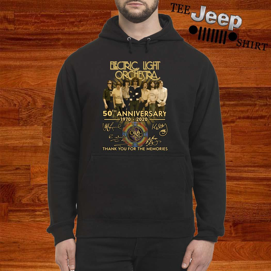Electric Light Orchestra 50th Anniversary 1970-2020 Thank You For The Memories Hoodie