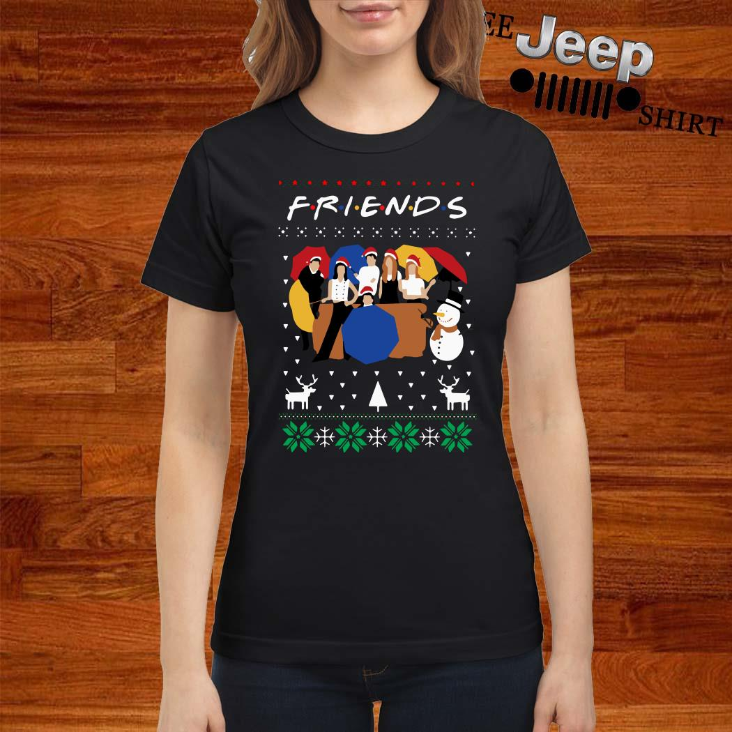 Friends TV Show Ugly Christmas Ladies Shirt