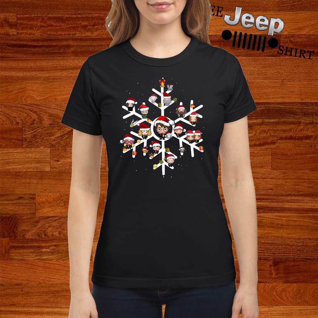 Harry Potter Chibi Character Snow Christmas Ladies Shirt