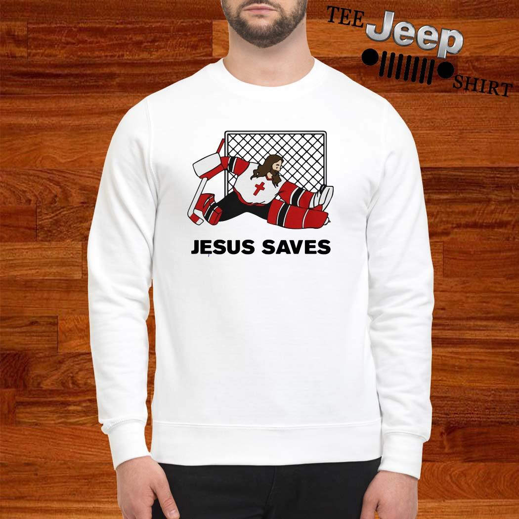 Hockey Jesus Saves Sweater