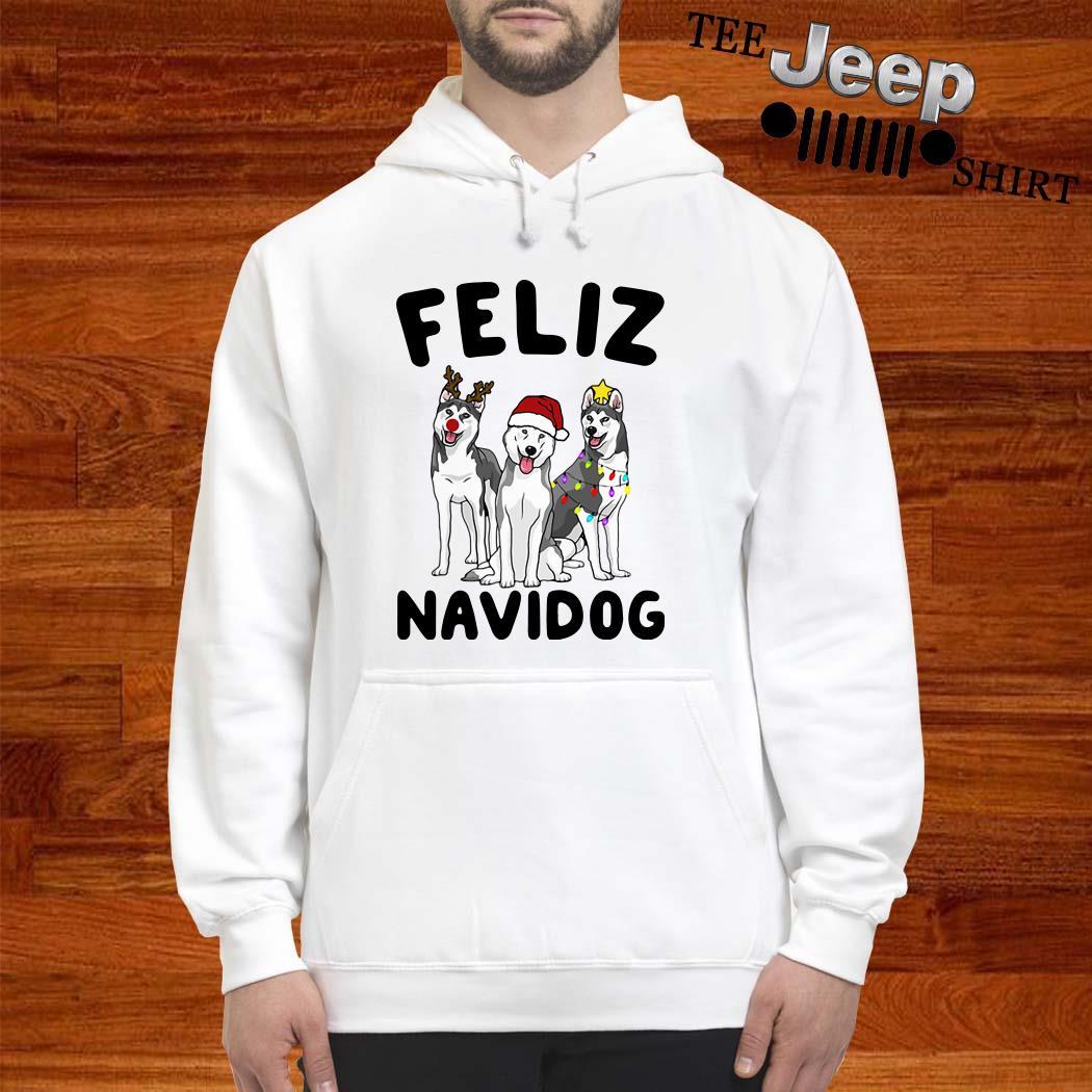 Husky Feliz Navidog Christmas Hoodie