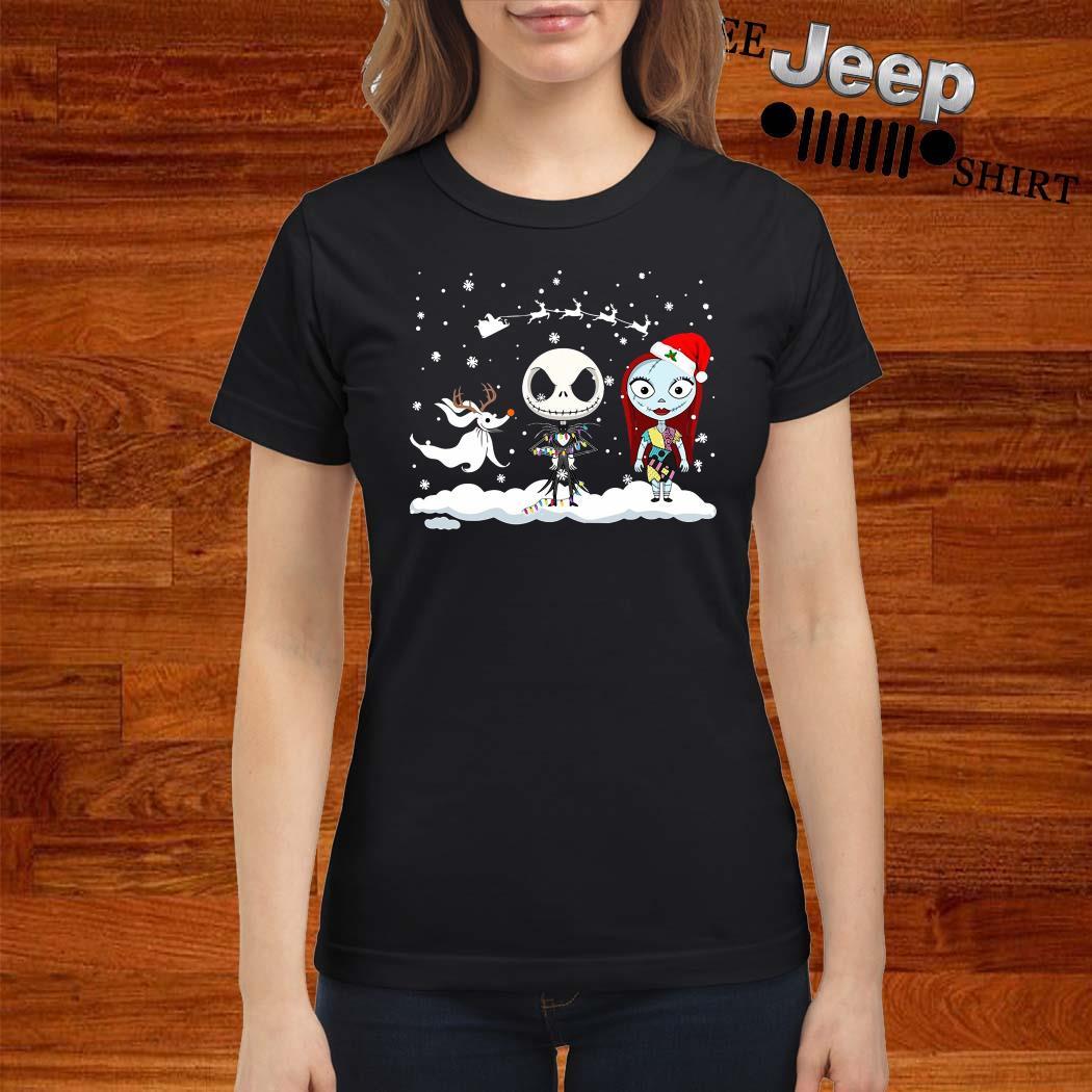 Jack Skellington And Sally Christmas Ladies Shirt