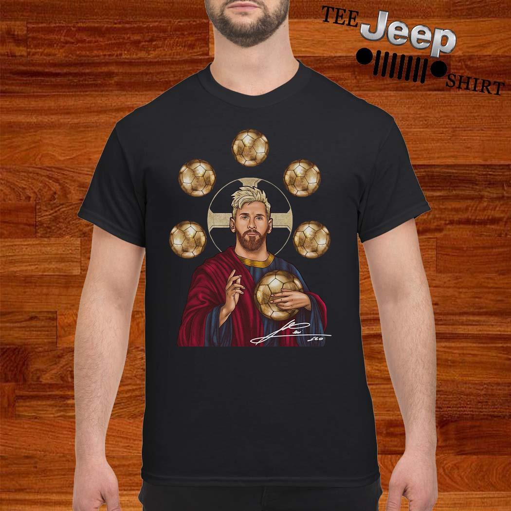 Jesus Messi Six Golden Ball Signature Shirt