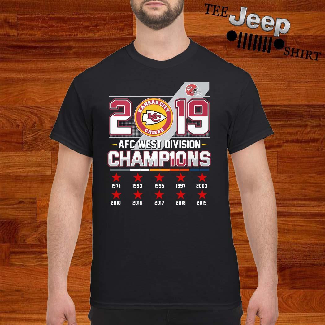 Kansas City Chiefs 2019 AFC West Division Champions Shirt