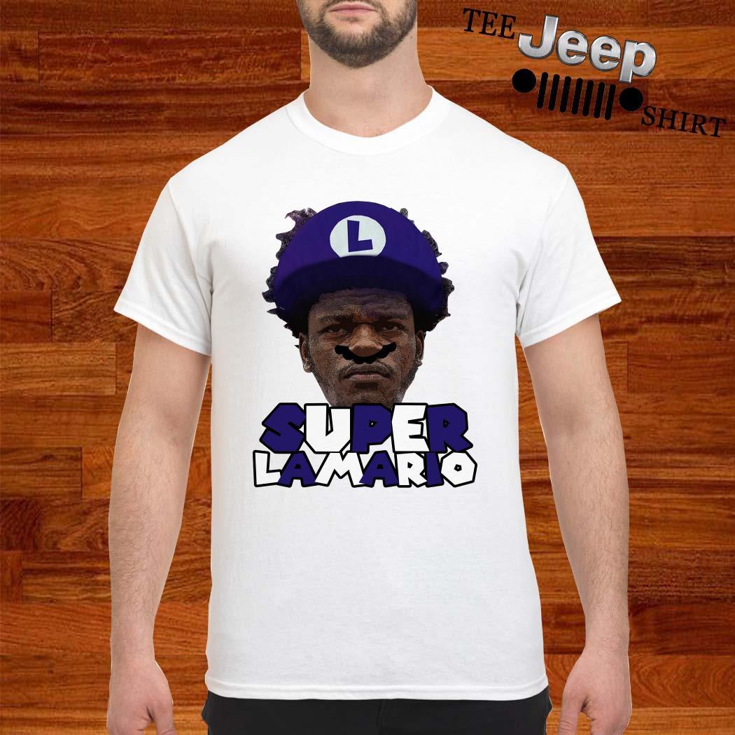 Lamar Jackson Super Lamario Shirt