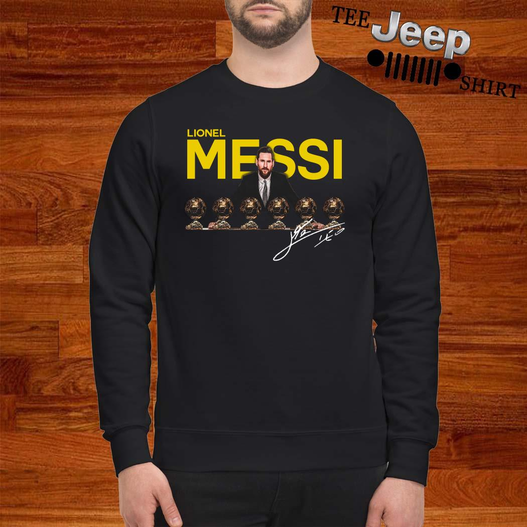 Lionel Messi Six Golden Ball Signature Sweater