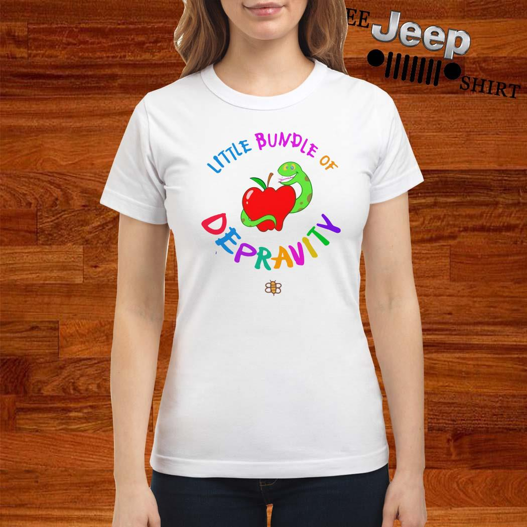 Little Bundle Of Depravity Ladies Shirt