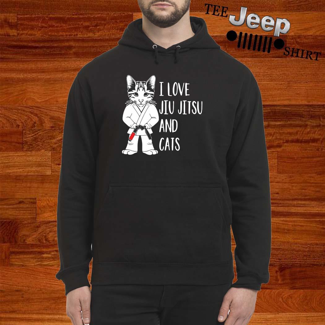 I Love Jiu Jitsu And Cats Hoodie