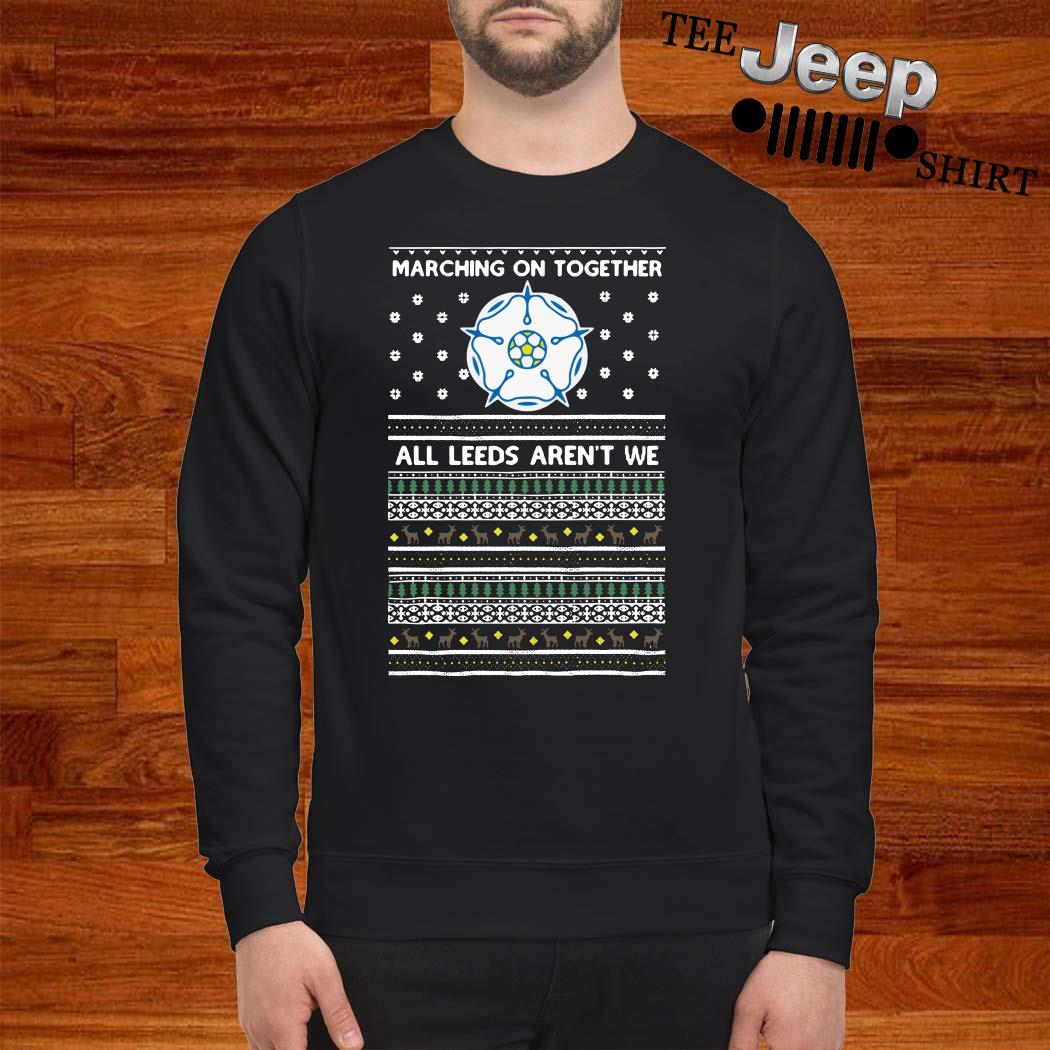 Marching On Together All Leeds Aren't We Ugly Christmas Sweater