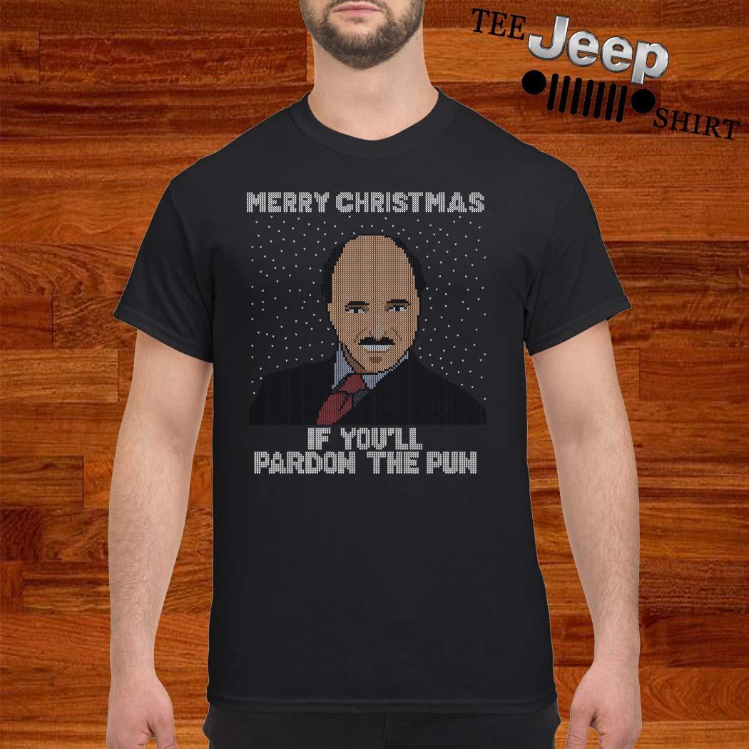 Merry Christmas If You'll Pardon The Pun Ugly Christmas Shirt