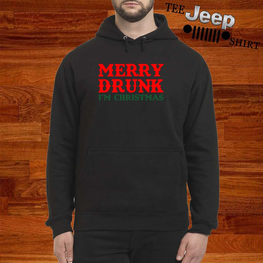 Merry Drunk I'm Christmas Hoodie