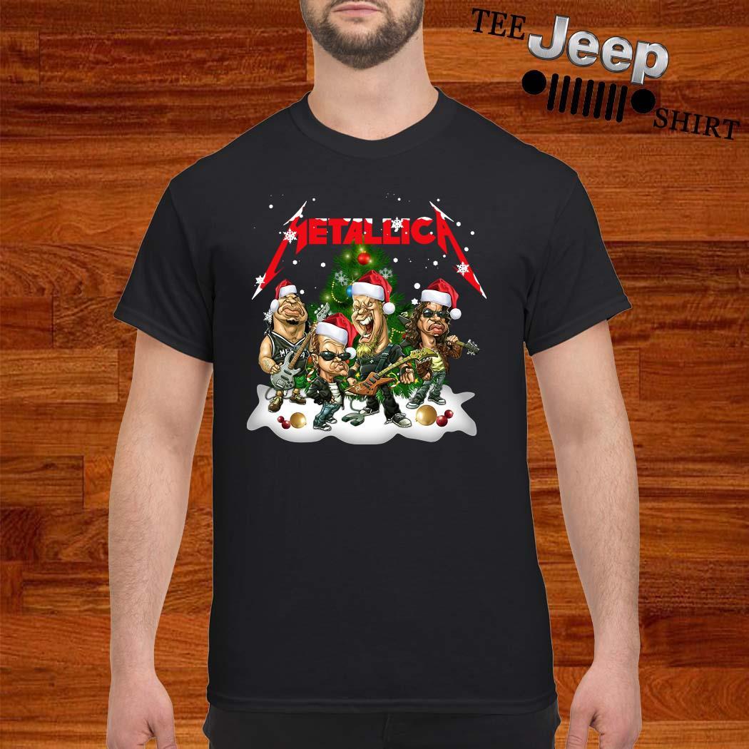 Metallica Members Santa Christmas Tree Shirt