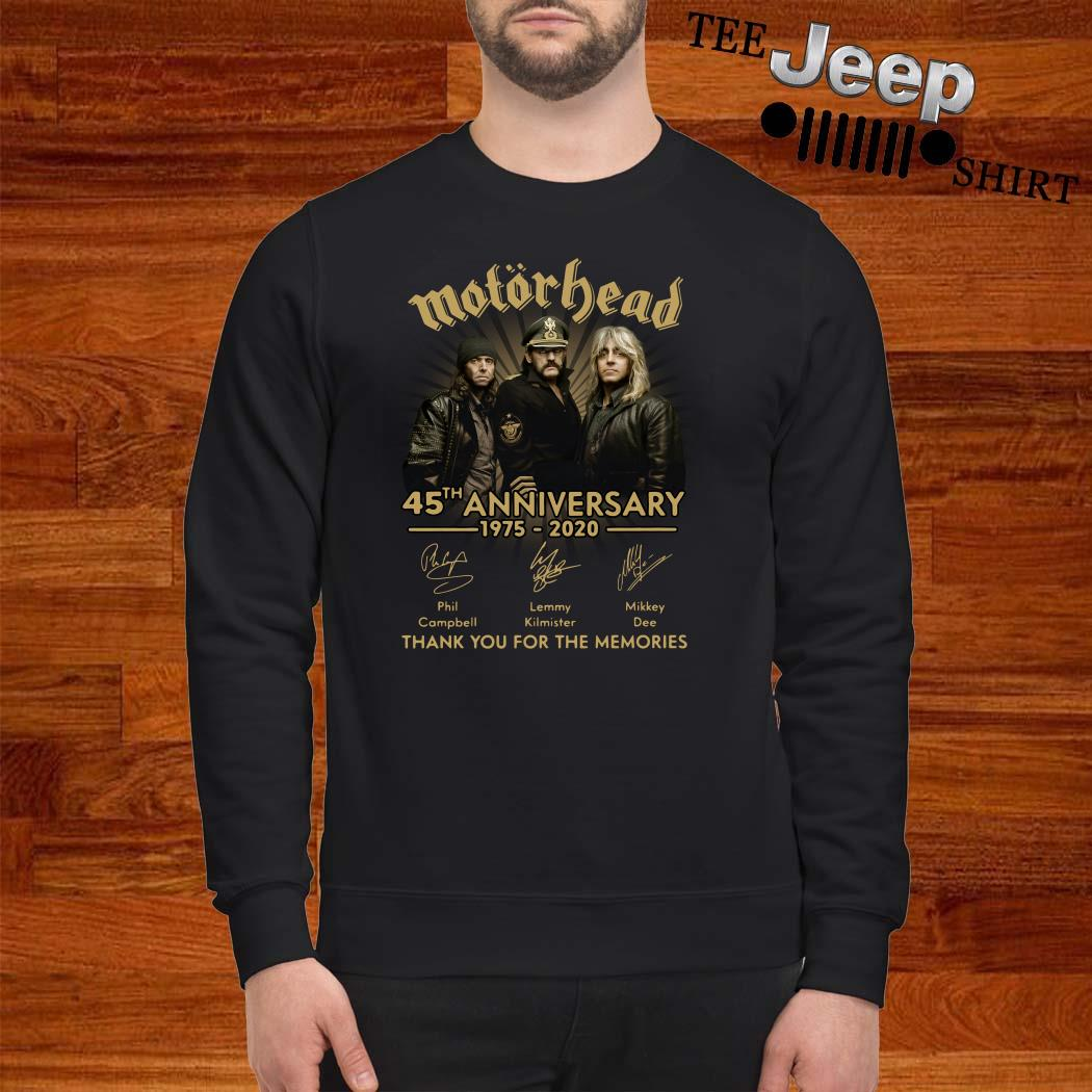 Motorhead 45th Anniversary 1975-2020 Signatures Thank You For The Memories Sweatshirt