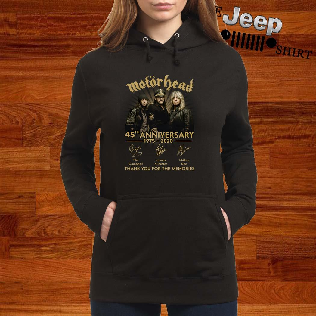 Motorhead 45th Anniversary 1975-2020 Signatures Thank You For The Memories Hoodie