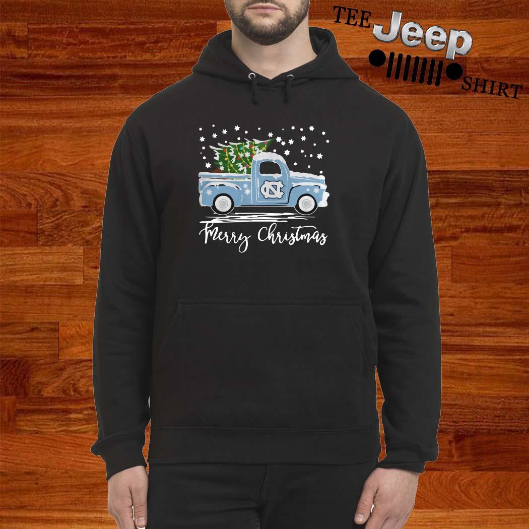 North Carolina Tar Heels Pickup Truck Merry Christmas Hoodie