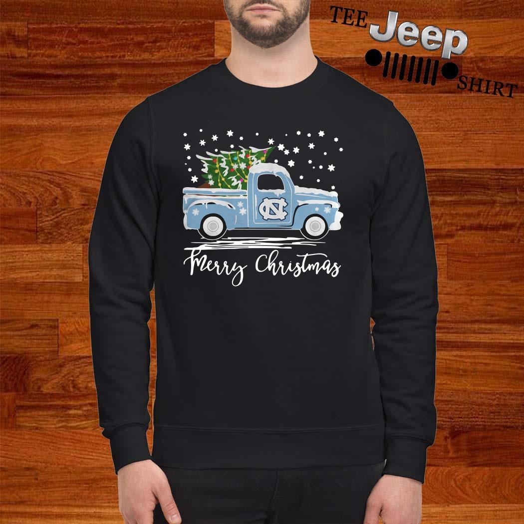 North Carolina Tar Heels Pickup Truck Merry Christmas Sweatshirt