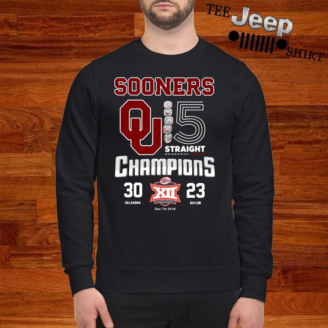 Oklahoma Sooners 5 Straight Champions Sweatshirt