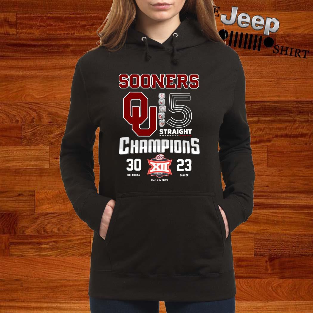Oklahoma Sooners 5 Straight Champions Hoodie