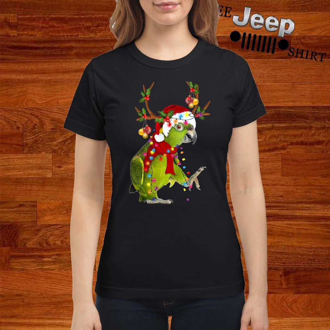 Parrot Gorgeous Reindeer Christmas Ladies Shirt