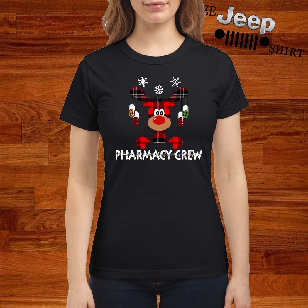 Reindeer Pharmacy Crew Christmas Ladies Shirt