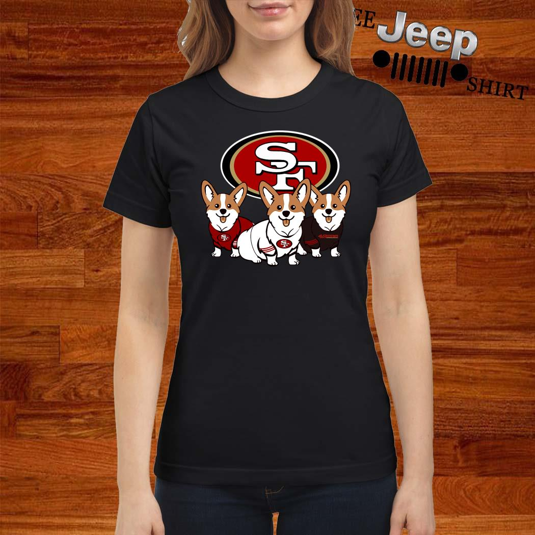 San Francisco 49ers Corgi Ladies Shirt