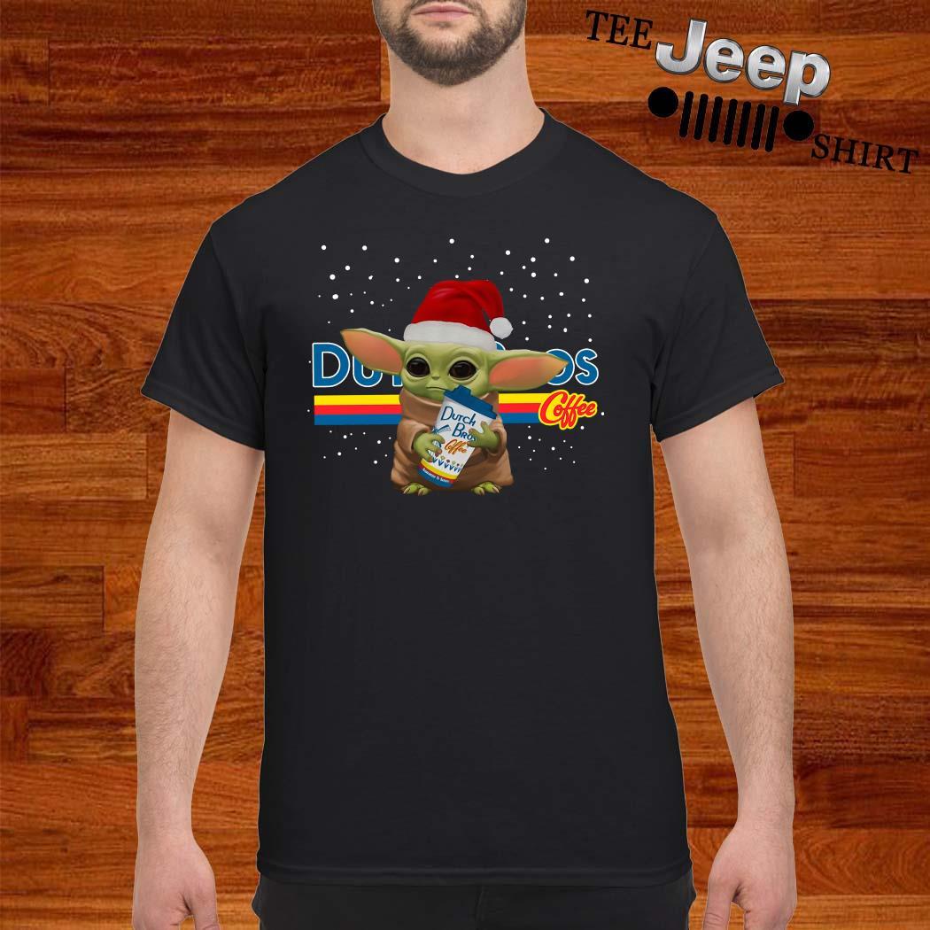 Santa Baby Yoda Dutch Bros Coffee Shirt