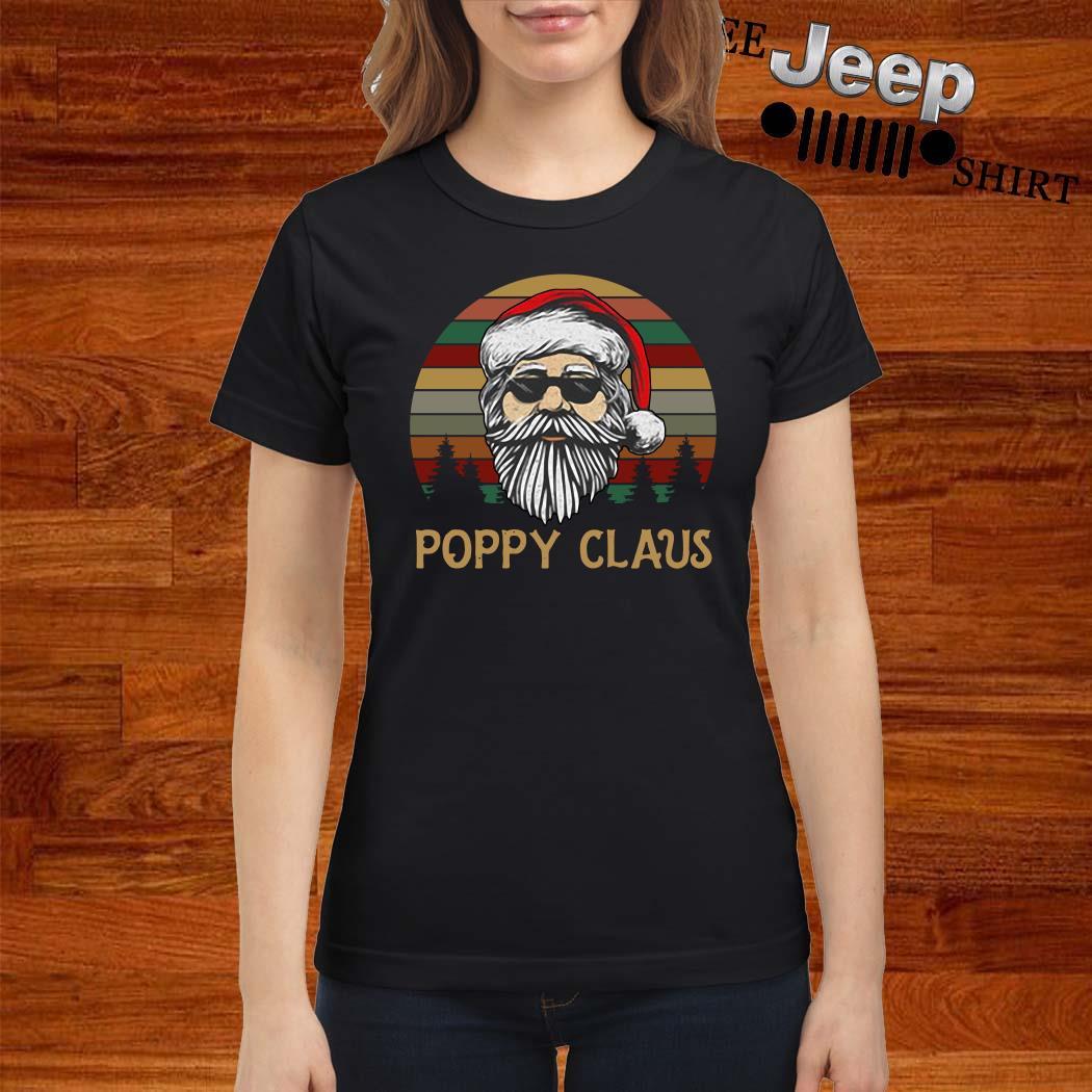 Santa Claus Poppy Claus Vintage Ladies Shirt