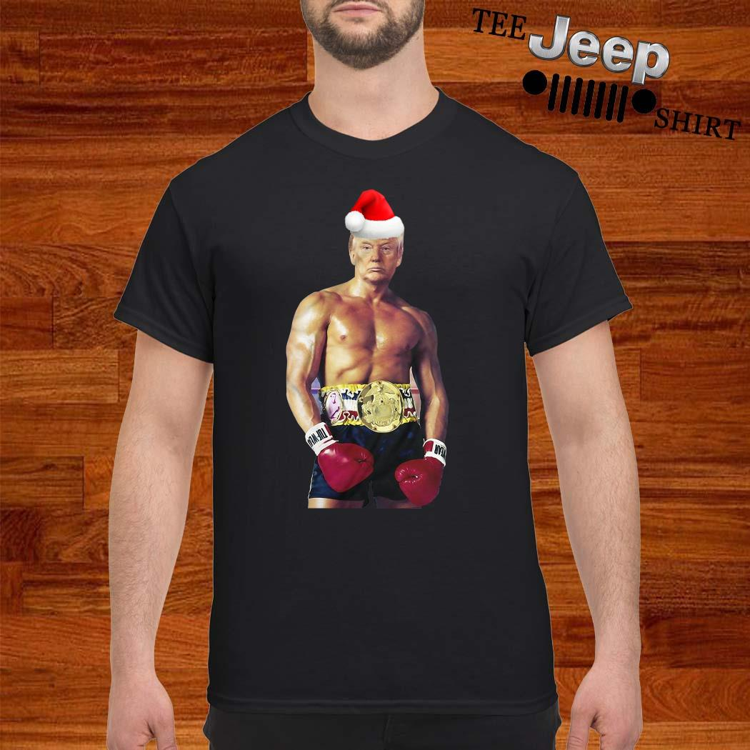 Santa Donald Trump Boxing Heavyweight Christmas Shirt