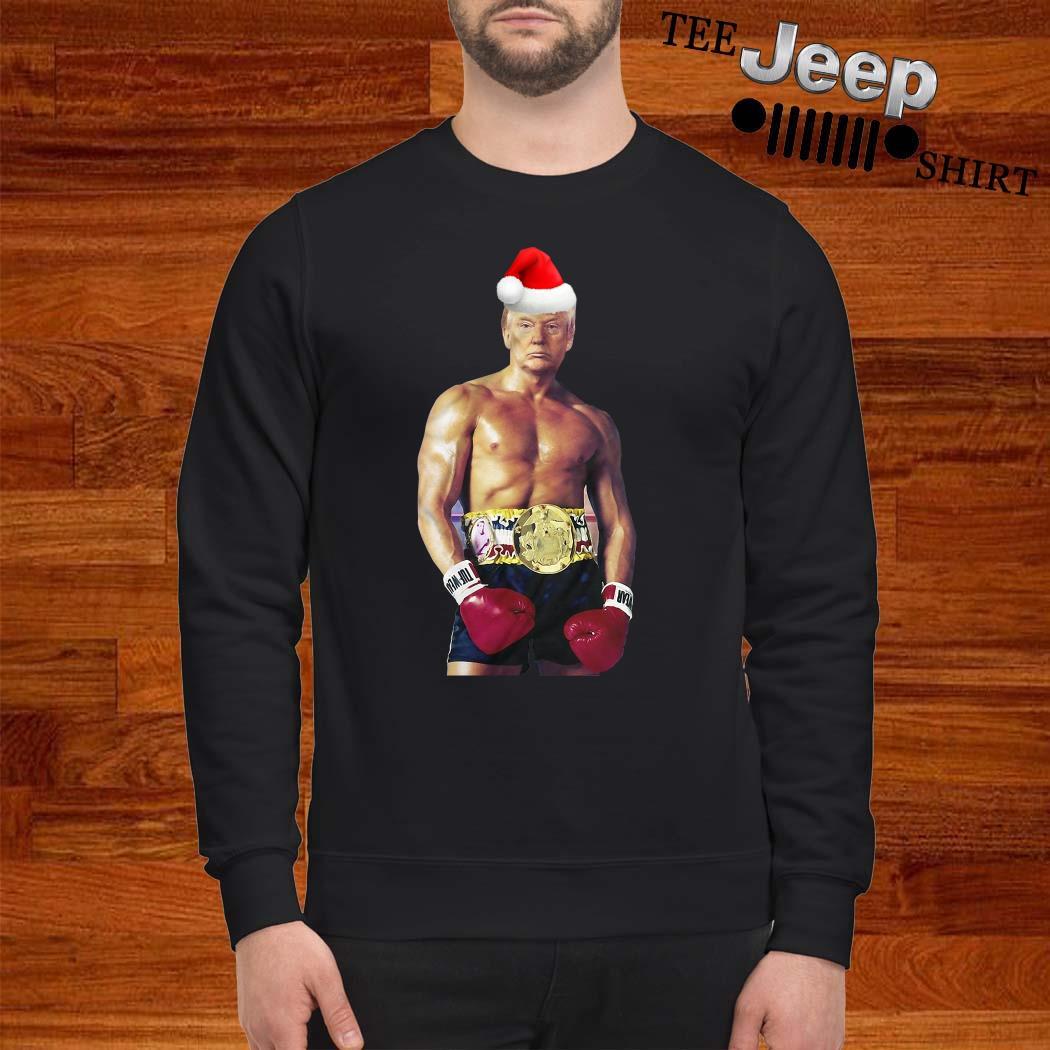Santa Donald Trump Boxing Heavyweight Christmas Sweatshirt