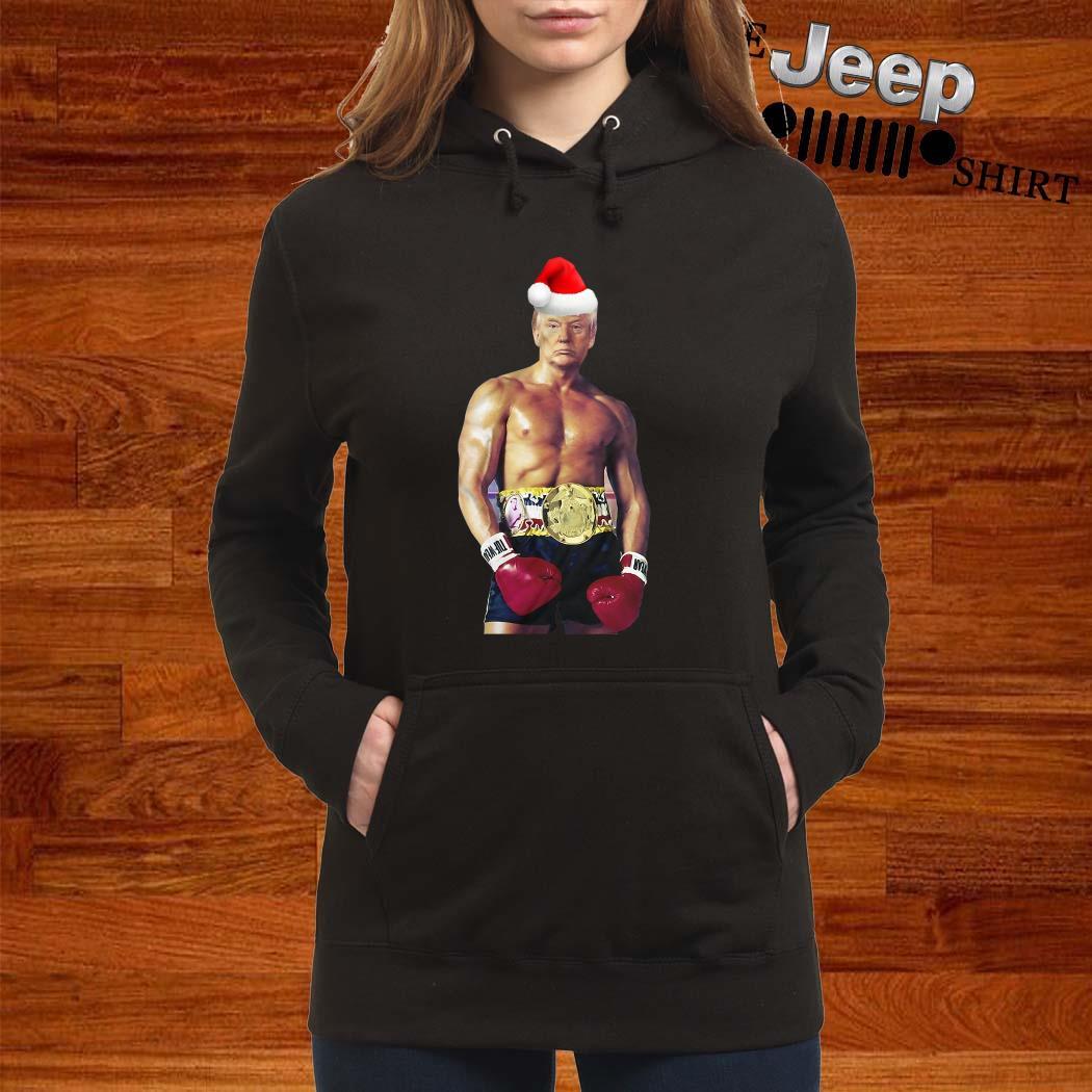 Santa Donald Trump Boxing Heavyweight Christmas Hoodie