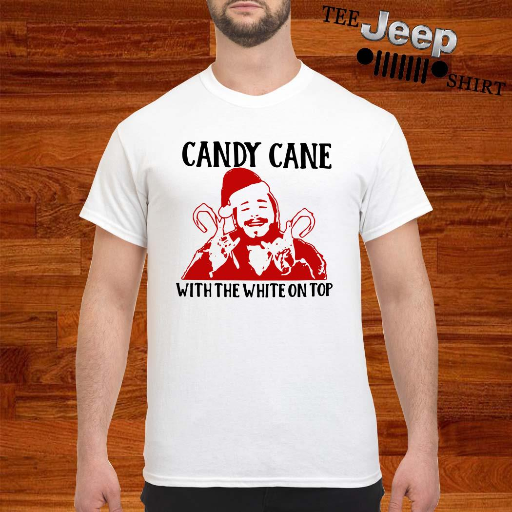 Santa Post Malone Candy Cane With The White On Top Shirt