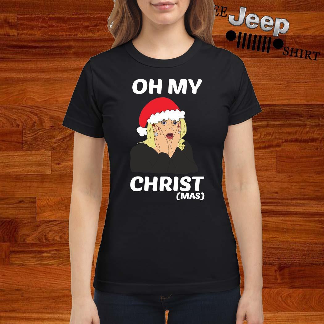Santa Stacey Shipman Oh My Christmas Ladies Shirt