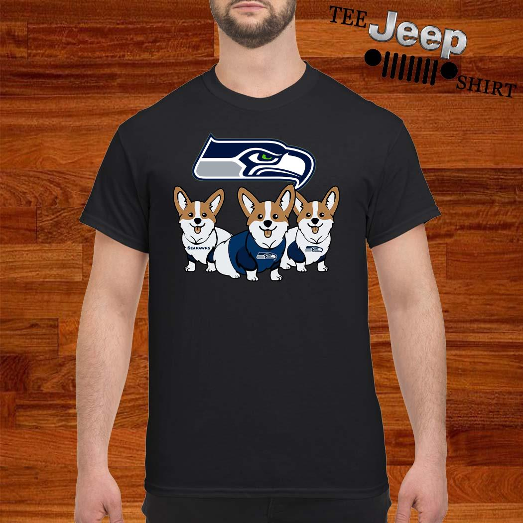 Seattle Seahawks Corgi Shirt