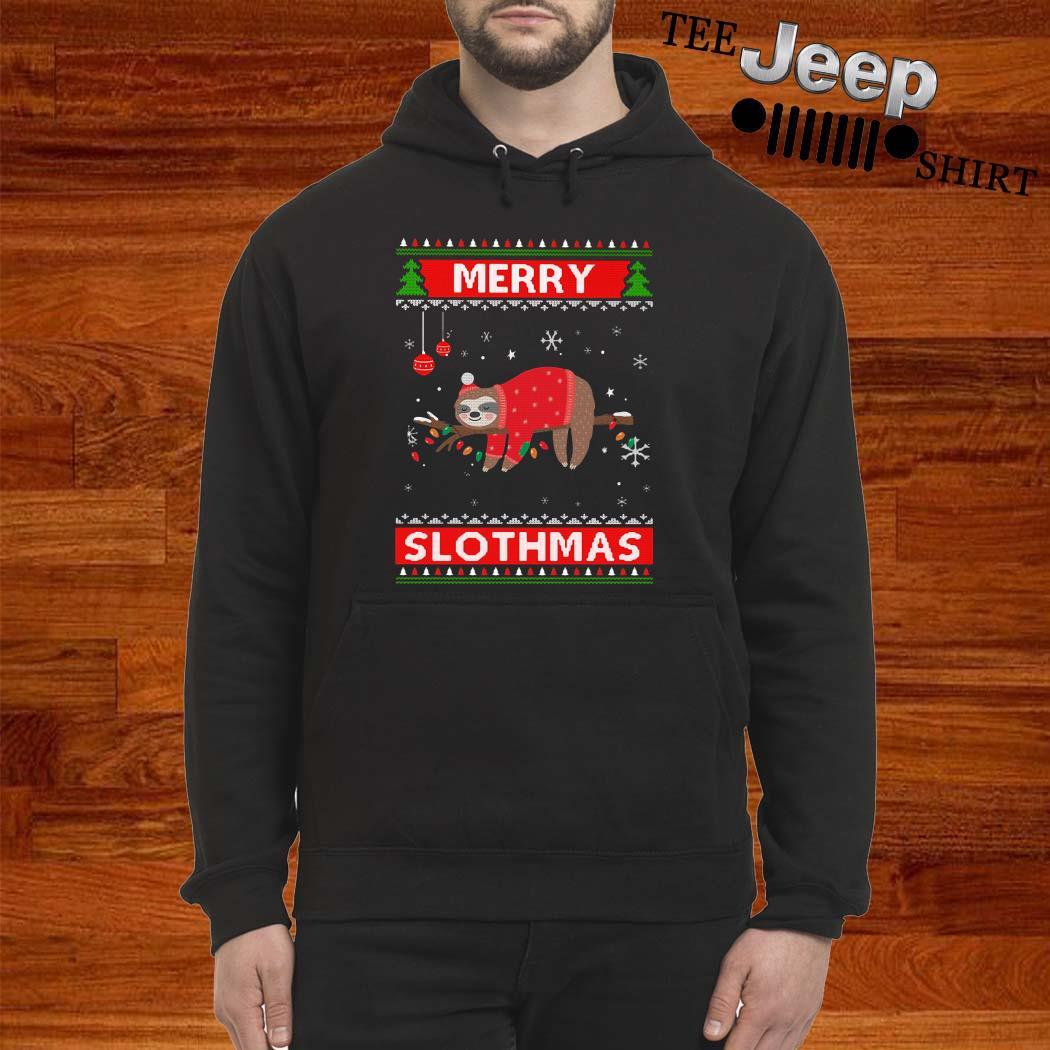 Sloth Merry Slothmas Ugly Christmas Hoodie