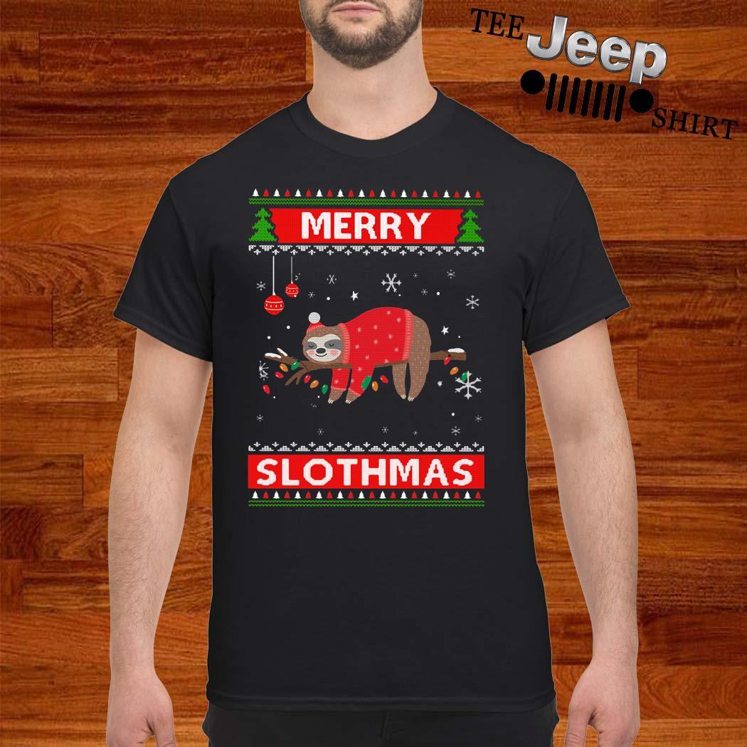 Sloth Merry Slothmas Ugly Christmas Shirt