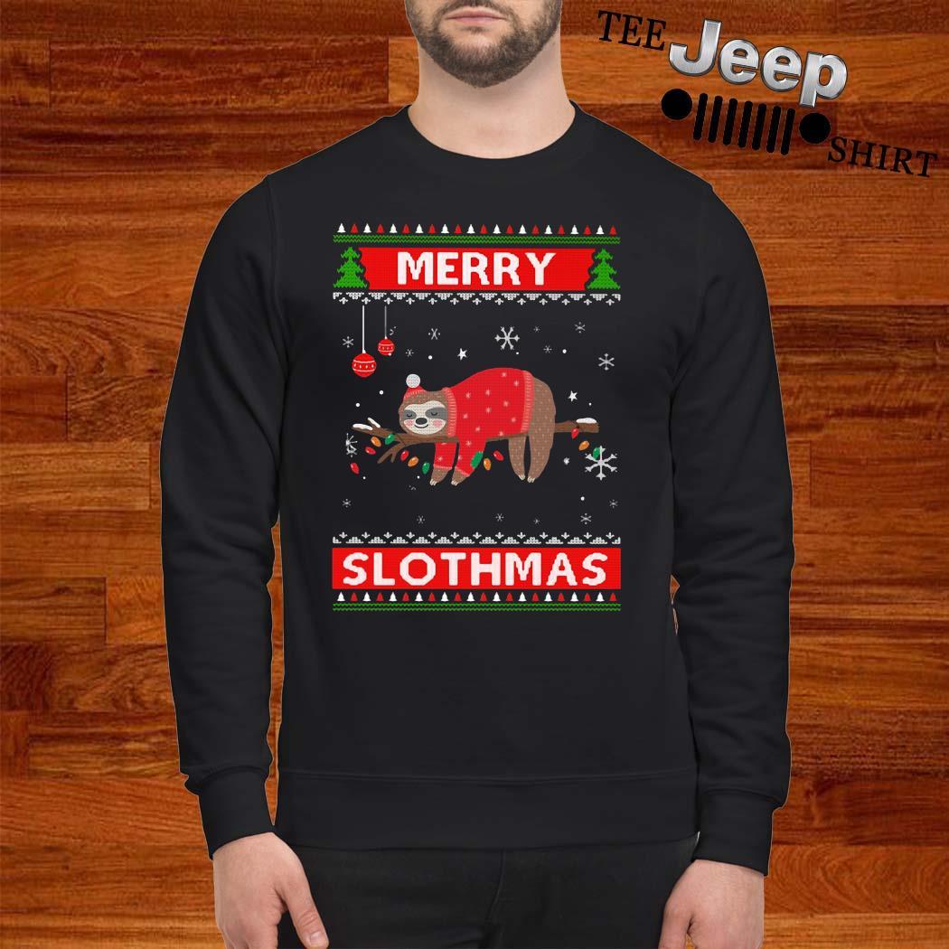 Sloth Merry Slothmas Ugly Christmas Sweater