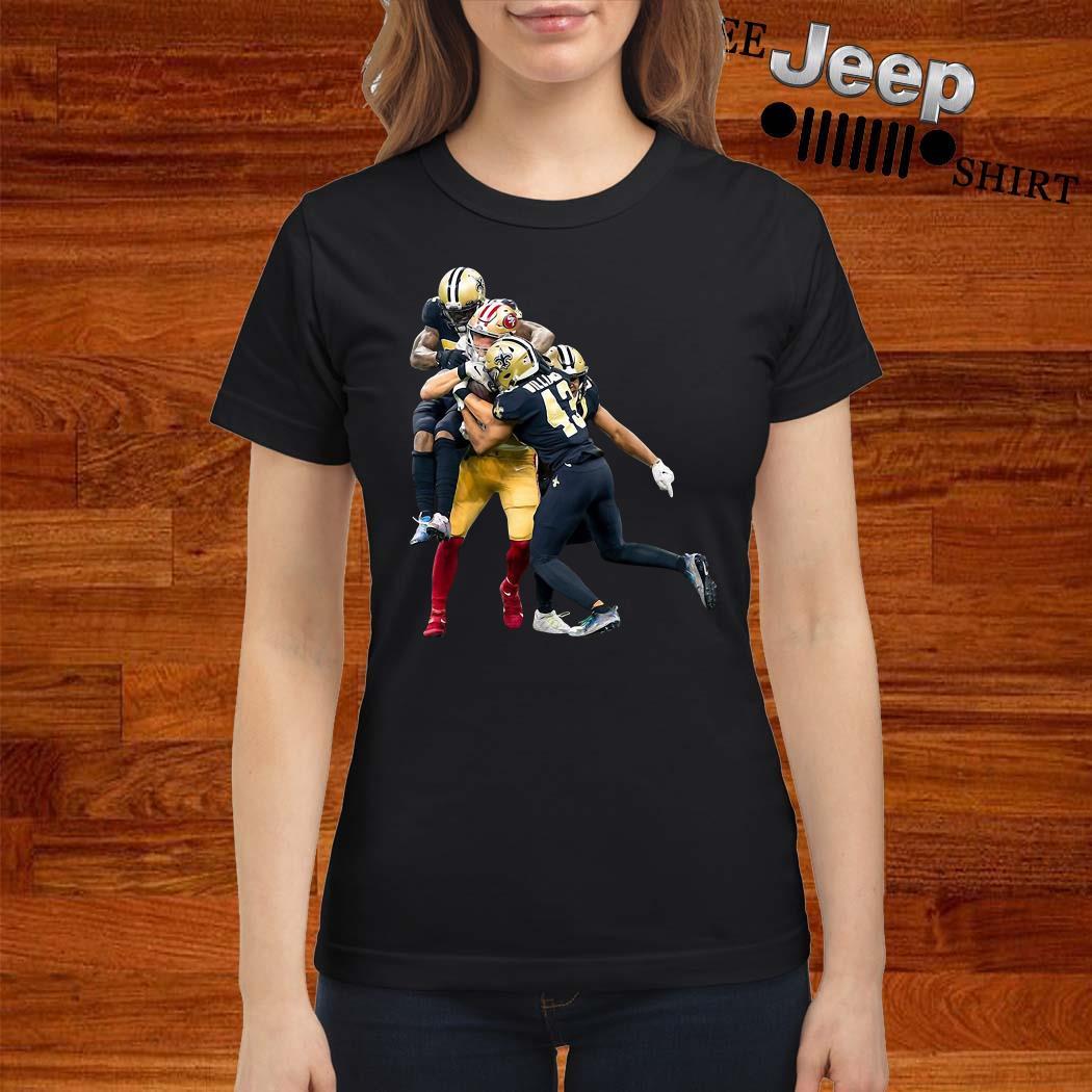 Sprint Football San Francisco 49ers And New Orleans Saints Ladies Shirt