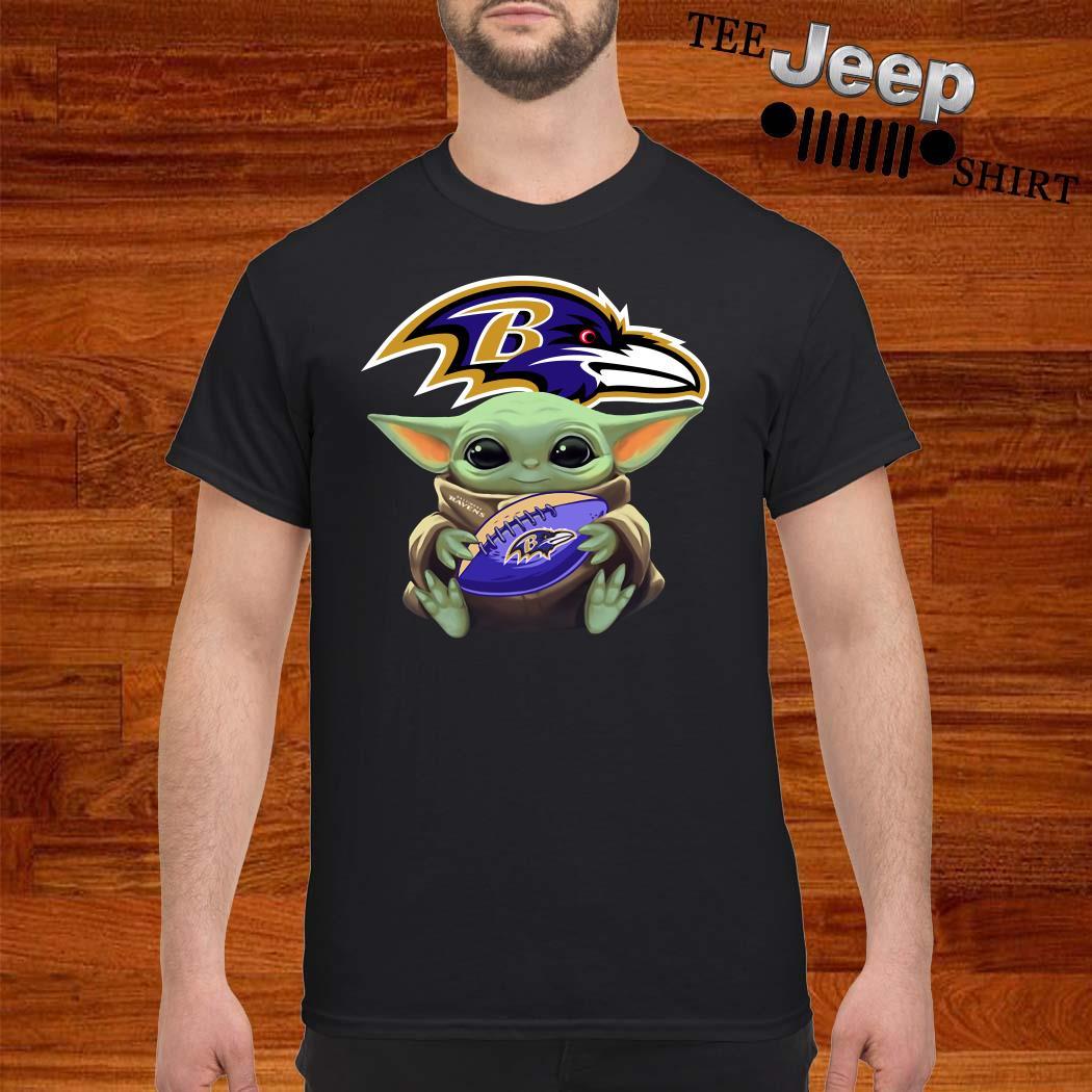 Star Wars Baby Yoda Hug Baltimore Ravens Shirt